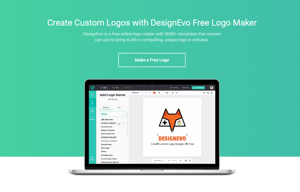 Create a Captivating Logo with DesignEvo Online Logo Maker Easily
