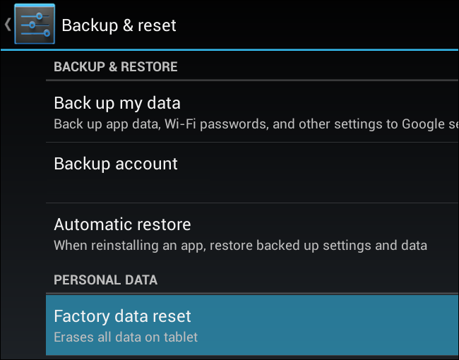 mobile network not available factory reset