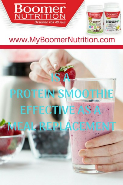 Is a Protein Smoothie Effective as a Meal Replacement