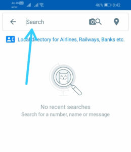 Truecaller Number Search on App