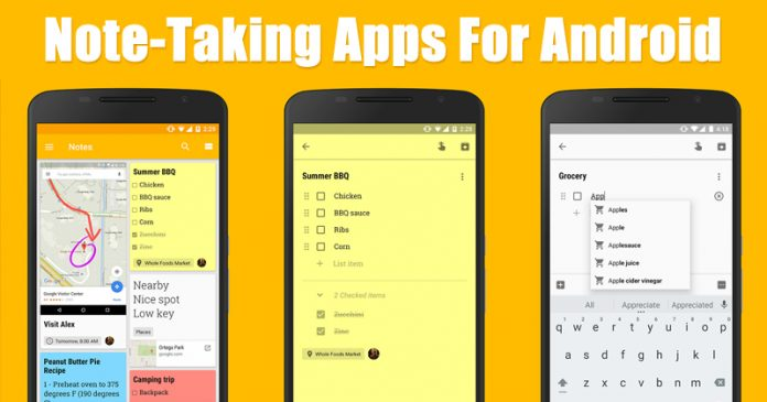 15 Best Note-Taking Apps For Android 2020 3
