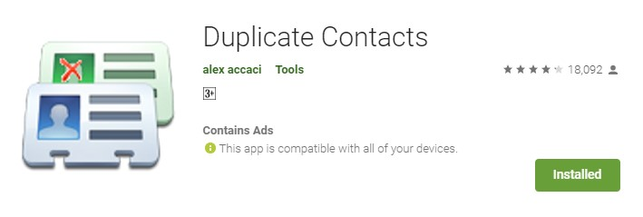 Install Duplicate Contacts