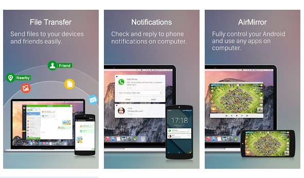 Install Airdroid app