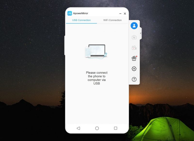 Connect your Android to PC via USB Cable