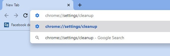 Enter the Given string in URL Bar and Press Enter button