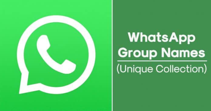 Best WhatsApp Group Names Collection 2020