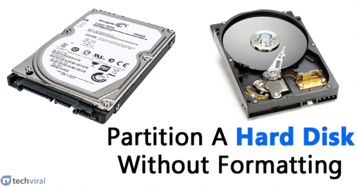 How To Partition A Hard Disk In Windows Without Formatting